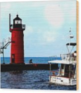 South Haven Michigan Lighthouse By Earl's Photography Wood Print