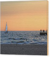 South Haven Sunset Wood Print