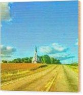 South Immanuel, On A Hill Far Away Wood Print