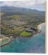 South Kihei Coastline Wood Print