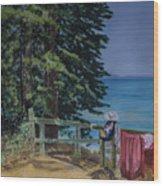 South Lake Tahoe Summer Wood Print
