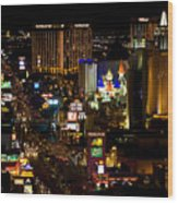 South Las Vegas Strip Wood Print