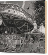 South London Carousel Wood Print