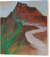 South Mountain Sunset Impression Wood Print