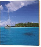 South Pacific Anchorage Wood Print