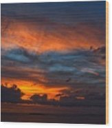 South Pacific Sunset Wood Print