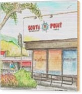 South Point Restaurant, West Hollywood, California Wood Print