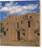 South Pueblo Taos Wood Print