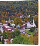 South Royalton Vermont Wood Print