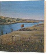 South Saskatchewan River Wood Print