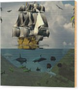 South Sea Adventure Wood Print