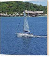South Sea Sail Wood Print