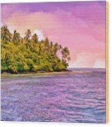 South Seas Sunset Wood Print