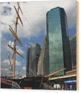 South Street Seaport - New York City Wood Print