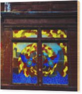 South Street Window Wood Print by Bill Cannon