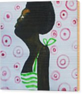 South Sudanese Lady Wood Print