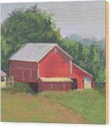 South View Of Meyer Farm Wood Print