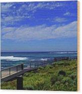 South West Coastline Wood Print