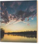 Southampton Sunset Wood Print