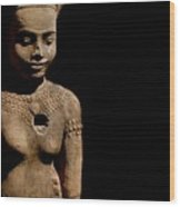 Southeast Asian Spiritual Statue - Cambodia Wood Print