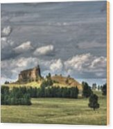 Belltower Butte Wood Print