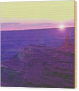 Southeastern Utah Sunset 2 Wood Print