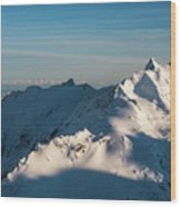 Southern Alps Wood Print