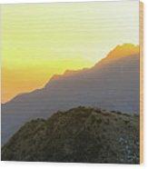 Southern Alps Sunrise Wood Print