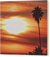 Southern California Sunset Wood Print