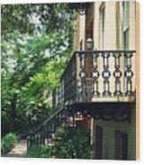 Southern Charm In Savannah  Wood Print
