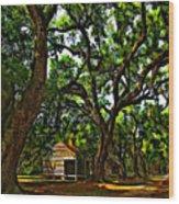 Southern Lane Wood Print