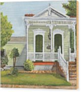 Southern Louisiana Charm Wood Print