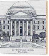 Southern Methodist University Wood Print
