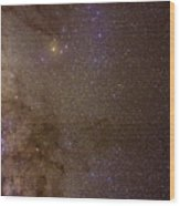 Southern Milky Way Wood Print by Charles Warren