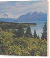 Southern New Zealand Lake Pukaki Wood Print