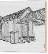 Southern Pacific Depot, Skull Valley, Az Wood Print
