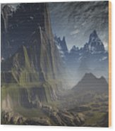 Southern Pacific Mountain Wood Print