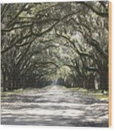 Southern Road Wood Print