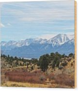 Southern Sawatch Vista Wood Print