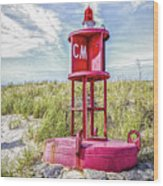 Southernmost Point Buoy- Cape May Nj Wood Print