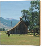 Southfork Barn Wood Print