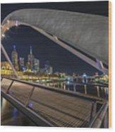 Southgate Bridge At Night Wood Print