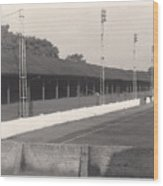 Southport Fc - Haig Avenue - Old Main Stand - Bw - Early 60s Wood Print