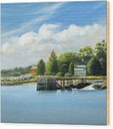 Southport Harbor Wood Print