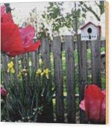 Southside Poppy Garden Wood Print