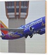 Southwest 737-7l9 N7816b Coco Phoenix Sky Harbor November 30 2017 Wood Print