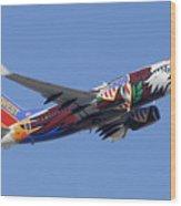 Southwest 737 Illinois One At Phoenix Sky Harbor December 2 2010 Wood Print
