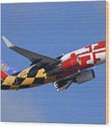 Southwest Airlines Boeing 737-7h4 N214wn Maryland One Phoenix Sky Harbor December 23 2010 Wood Print