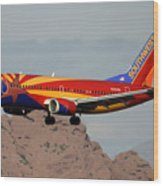 Southwest Boeing 737-3h4 N383sw Arizona Phoenix Sky Harbor December 20 2015  Wood Print