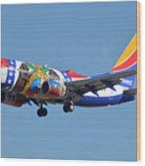 Southwest Boeing 737-7h4 N280wn Missouri One Phoenix Sky Harbor January 24 2016 Wood Print